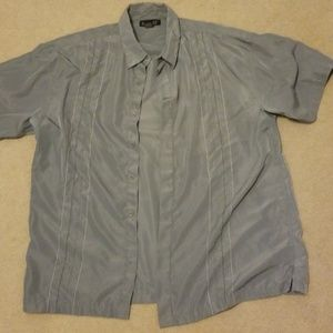 Big and tall button down short sleeve shirt